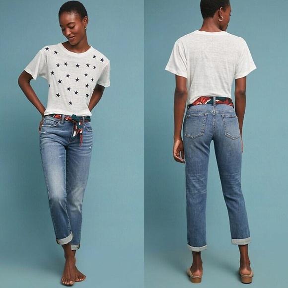 Anthropologie Pilcro Mid Rise Slim Boyfriend Jeans